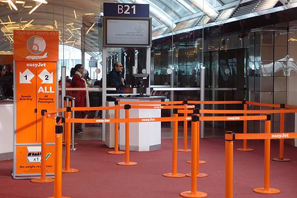 Easyjet counter @ Aéroport Paris-Charles-de-Gaulle