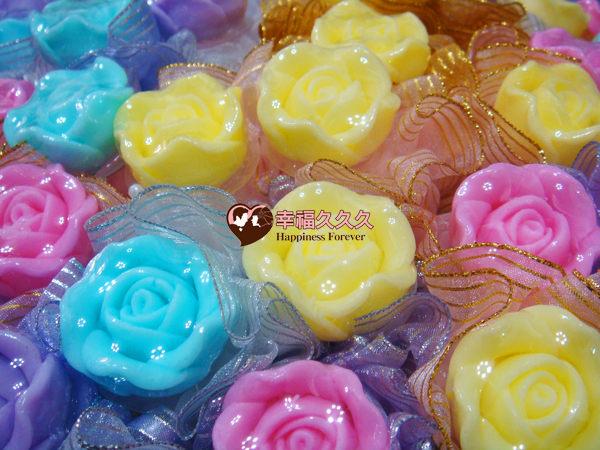[幸福久久久] 玫瑰手工香皂金莎花(特價19元)