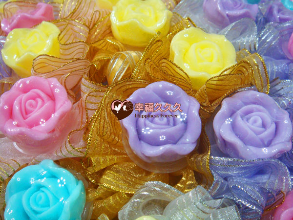 [幸福久久久] 玫瑰手工香皂金莎花(特價19元)2