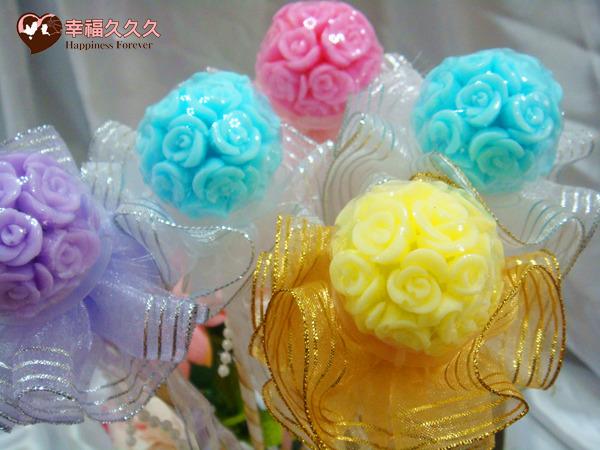 [幸福久久久] 繡球玫瑰手工香皂金莎花(特價19元)