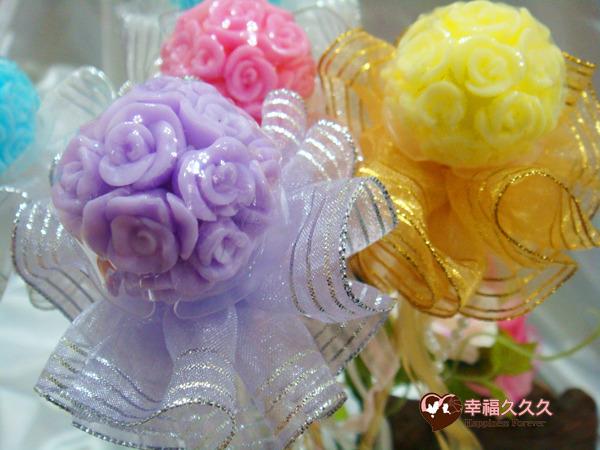 [幸福久久久] 繡球玫瑰手工香皂金莎花(特價19元)2