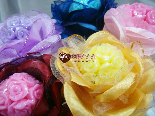 [幸福久久久] 繡球玫瑰手工香皂金莎花(豪華版)