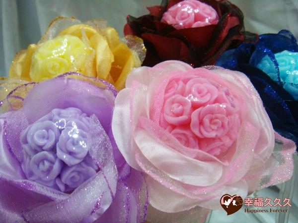 [幸福久久久] 繡球玫瑰手工香皂金莎花(豪華版)2