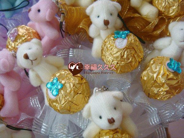 [幸福久久久]四色熊金莎巧克力花棒2