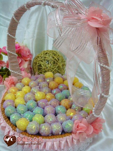 [幸福久久久]100支婚禮棒棒糖+喜糖籃(特價1199元免運費)