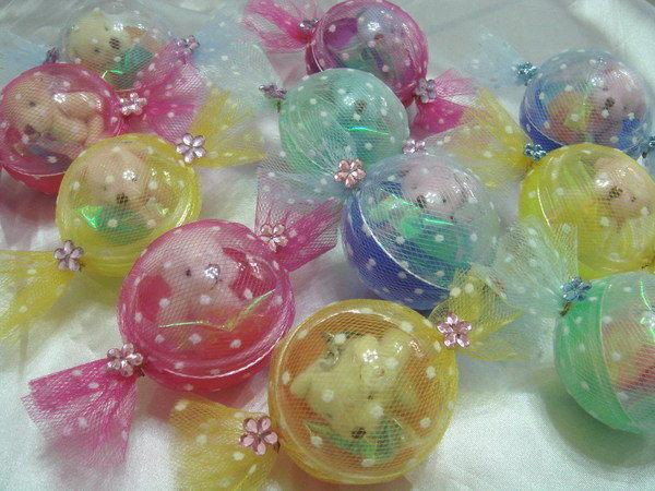 [幸福久久久]四色熊糖果造型扭蛋喜糖2
