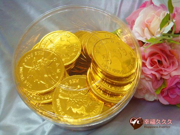[幸福久久久]超大金幣巧克力(1公斤裝)
