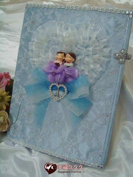 [幸福久久久]典藏海洋風手作結婚證書夾結婚證書(含收藏袋)