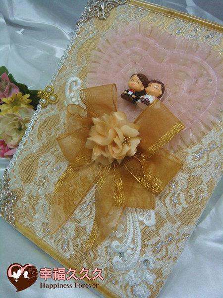 [幸福久久久]典藏豪華手作結婚證書夾結婚證書(含收藏袋)