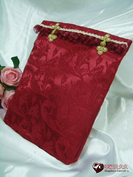 [幸福久久久]典藏繡花手作結婚證書夾結婚證書(含收藏袋)2