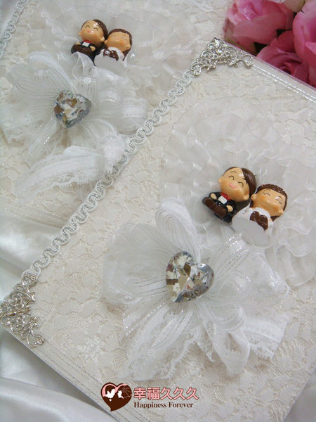 [幸福久久久]幸福承諾手作結婚證書(2本含收藏袋手工相片框)