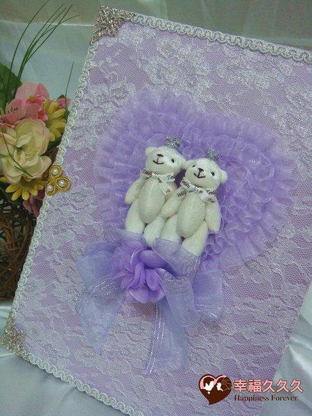 [幸福久久久]幸福皇冠熊手作結婚證書夾結婚證書(含收藏袋)