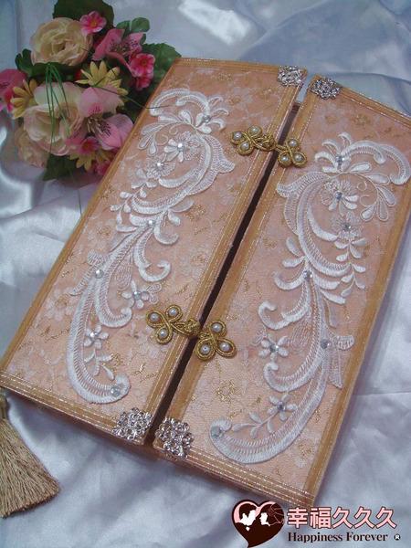 [幸福久久久]花嫁約定結婚證書夾結婚證書(含手工相片框跟收藏袋)