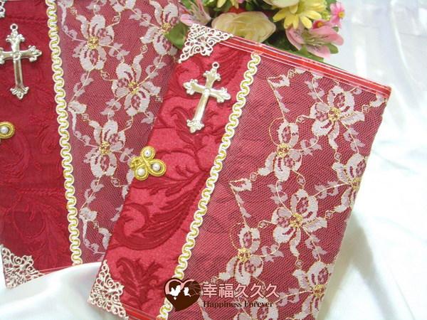 [幸福久久久]基督恩典手作結婚證書(2本含收藏袋)