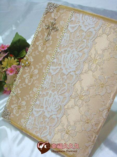 [幸福久久久]基督恩典手作結婚證書夾結婚證書(含收藏袋)