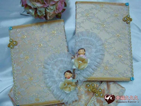 [幸福久久久]奢華心連心-手作新版結婚證書(2本含收藏袋)