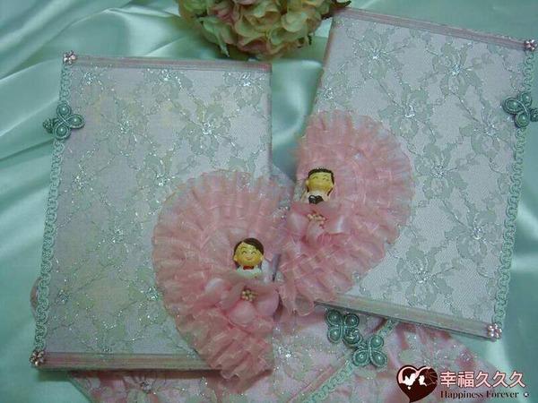 [幸福久久久]奢華心連心-手作新版結婚證書(2本含收藏袋)2