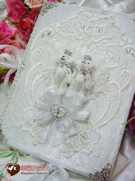 [幸福久久久]晶鑽皇冠熊結婚證書夾(女人我最大節目介紹款)
