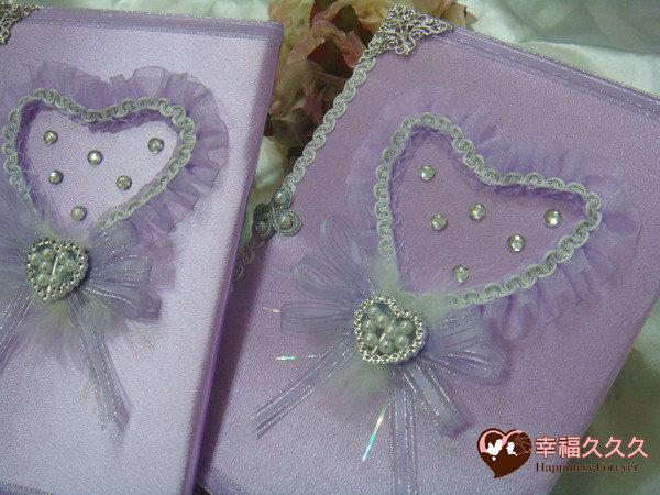 [幸福久久久]紫愛妳手作結婚證書(證書2本含收藏袋一個)