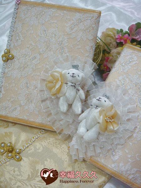 [幸福久久久]熊愛妳手作結婚證書(2本含收藏袋)