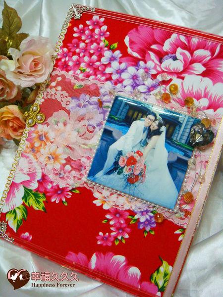 [幸福久久久]豪華牡丹磁磚結婚證書結婚證書夾(含收藏袋磁磚相片)