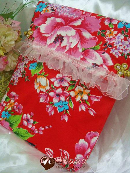 [幸福久久久]豪華牡丹磁磚結婚證書結婚證書夾(含收藏袋磁磚相片)2