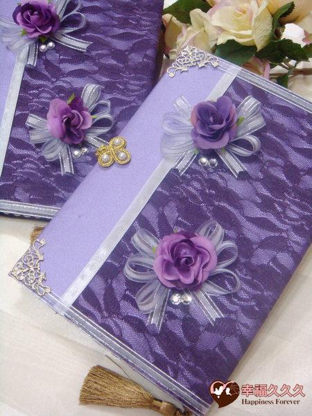 [幸福久久久]歐風玫瑰手作結婚證書結婚證書夾(證書2本含收藏袋一個)2