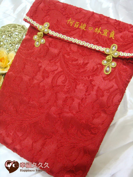 [幸福久久久]簪囍(結髮一輩子)結婚證書夾結婚證書(含收藏袋)2