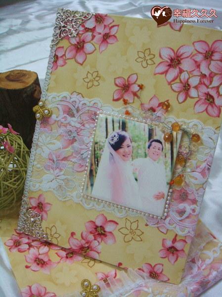 [幸福久久久]攜手桐心一輩子結婚證書夾(含收藏袋磁磚相片)
