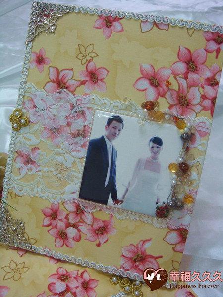 [幸福久久久]攜手桐心一輩子結婚證書夾(含收藏袋磁磚相片)2