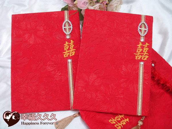 [幸福久久久]囍宴手作新版結婚證書(2本含收藏袋)