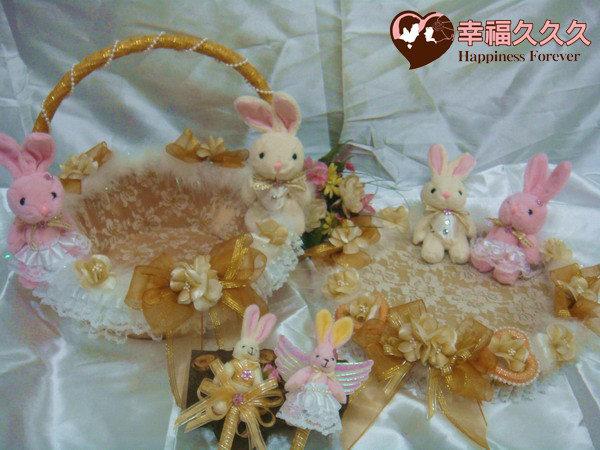 [幸福久久久]幸福兔喜糖籃4件組~獨家款