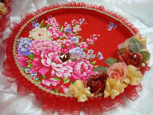 [幸福久久久]時尚復古風牡丹花喜糖盤