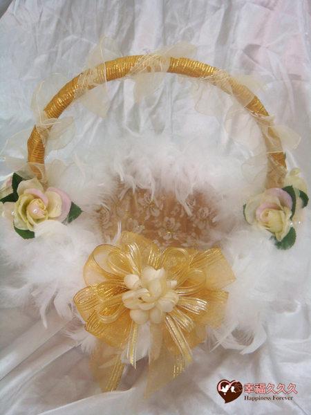 [幸福久久久]黃金夢幻玫瑰喜糖籃-特價499元