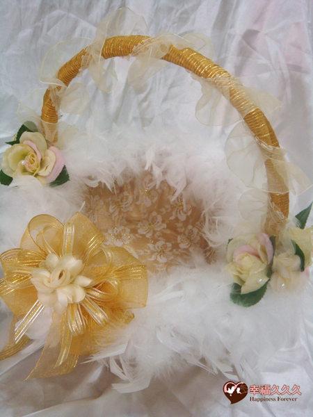 [幸福久久久]黃金夢幻玫瑰喜糖籃-特價499元2