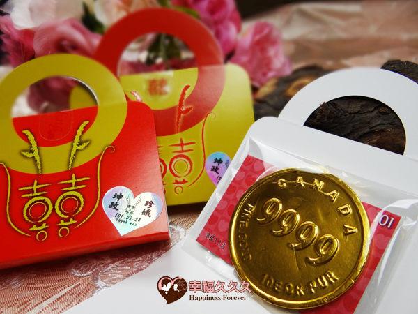 [幸福久久久]小龍包超大金幣巧克力手提組