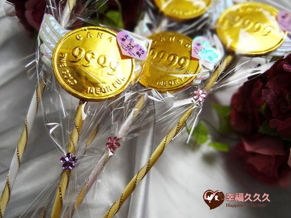 [幸福久久久]超大金幣巧克力花棒