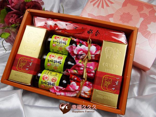 [幸福久久久]豪華黃金喜米喝茶禮盒