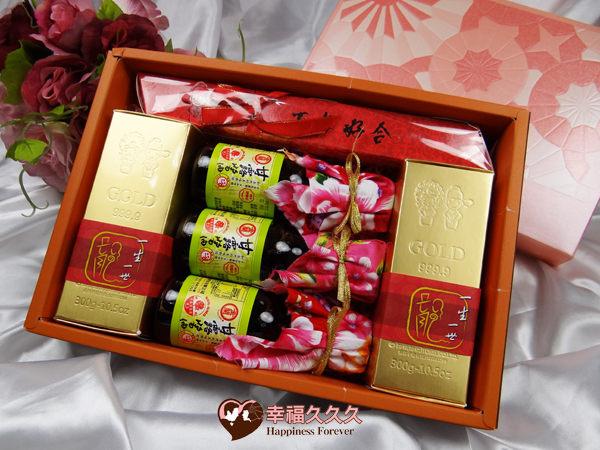 [幸福久久久]豪華黃金喜米喝茶禮盒2