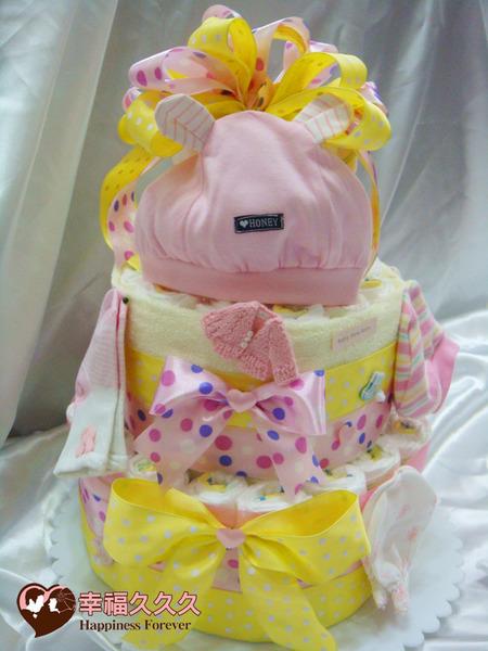[幸福久久久]天使祝福寶寶尿布蛋糕