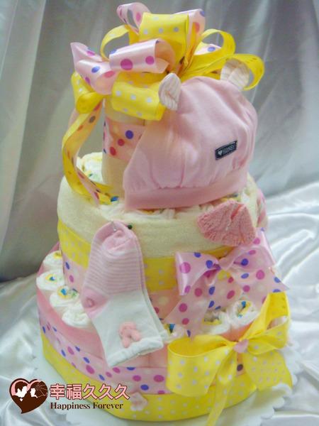 [幸福久久久]天使祝福寶寶尿布蛋糕2