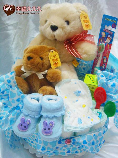 [幸福久久久]好事成雙寶寶尿布蛋糕綜合組