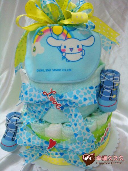 [幸福久久久]夏日藍天寶寶尿布蛋糕