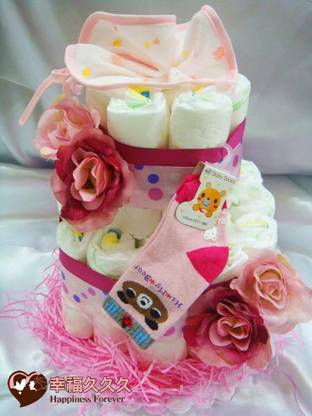 [幸福久久久]甜心寶寶尿布蛋糕