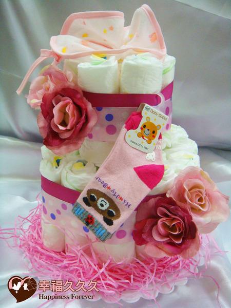 [幸福久久久]甜心寶寶尿布蛋糕2