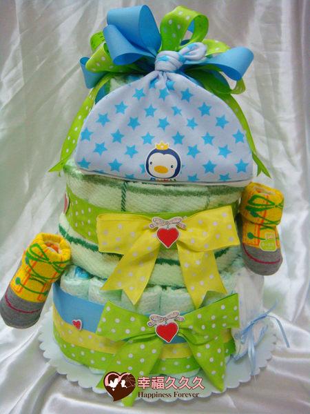 [幸福久久久]愛的祝福寶寶尿布蛋糕2