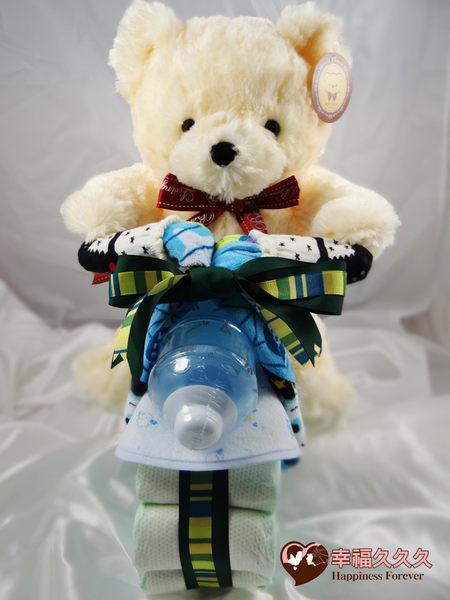 [幸福久久久]熊熊哈雷機車尿布蛋糕