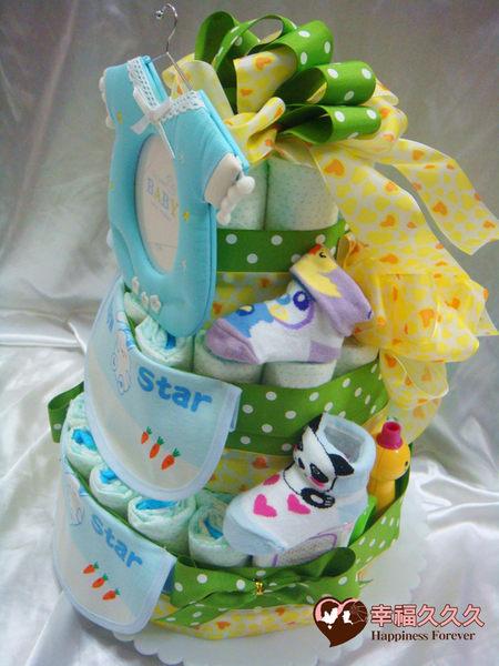 [幸福久久久]藍色天使寶寶尿布蛋糕2