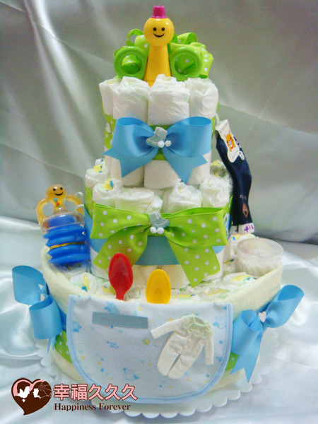 [幸福久久久]繽紛寶寶尿布蛋糕2