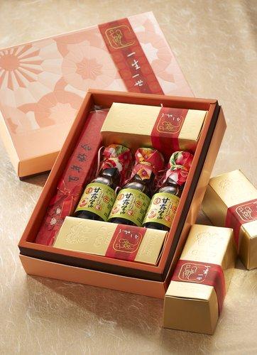 [幸福久久久婚禮小物]豪華黃金喜米喝茶禮盒~超人氣版